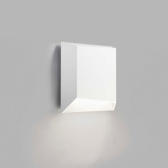 Applique murale facet down w1 blanc ip54 led 3000k 300lm o16cm h16cm light point normal