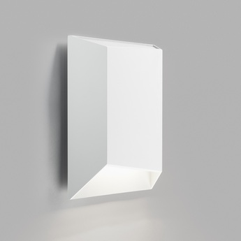 Applique murale facet down w2 blanc ip54 led 3000k 300lm o24cm h24cm light point normal