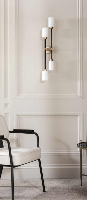 Applique murale farol blanc noir led l7cm h79cm bert frank normal