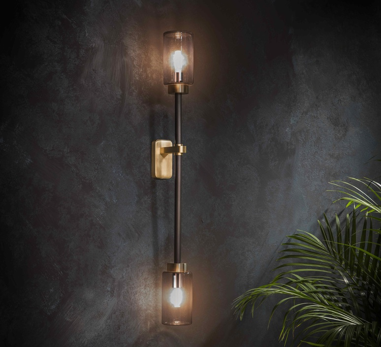 Farol single robbie llewellyn adam yeats applique murale wall light  bert frank farol single wall light smoked glass  design signed 35932 product