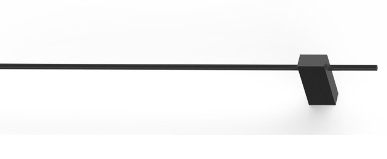 Applique murale finlin 1 0 noir led 2700k 350lm l62cm h2 6cm wever ducre normal