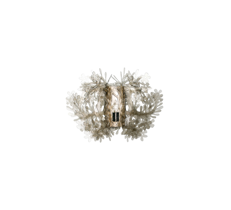 Fiorella mini nigel coastes applique murale wall light  slamp fio14app00001f 000  design signed 46144 product