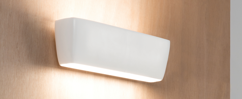 Applique murale flaca blanc led l28cm h8cm nemo lighting normal