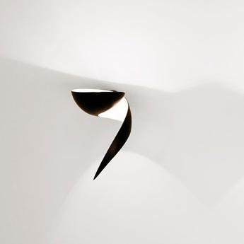 Applique murale flamme gauche noir h30cm serge mouille normal