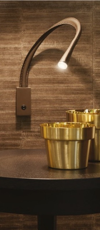 Applique murale flexiled 60 bronze marron fonce led 2700k 500lm l60cm hcm contardi normal