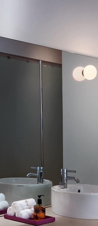 Applique murale flos mini glo ball mirror blanc ip44 o11 2cm p8 5cm flos normal