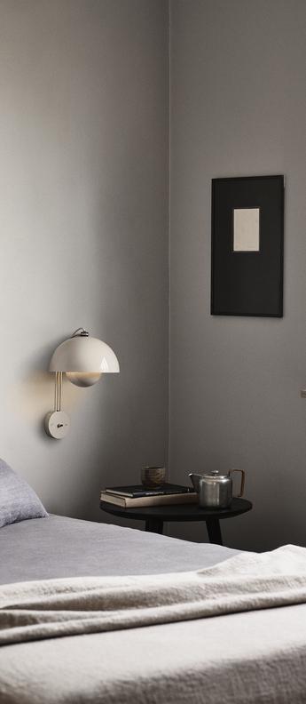 Applique murale flowerpot vp8 beige gris o23cm h35 5cm andtradition normal