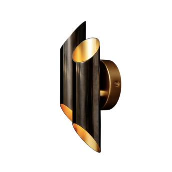 Applique murale flute noir et or l8cm h25cm gong normal