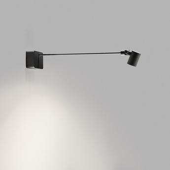 Applique murale focus gallery noir led 3000k 495lm l48cm h48cm light point normal