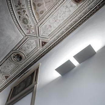 Applique murale foil blanc led 2700k 1959lm l29cm h2 6cm davide groppi normal