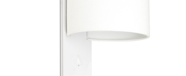Applique murale fold blanc l20cm h30cm faro normal