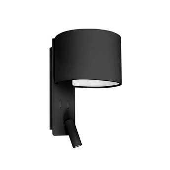 Applique murale fold liseuse noir led 2700k 200lm l20cm h30cm faro normal