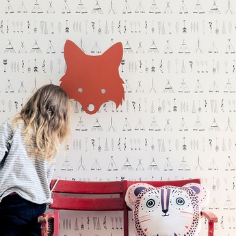 Applique murale fox lamp orange led l22 5cm h30cm ferm living normal