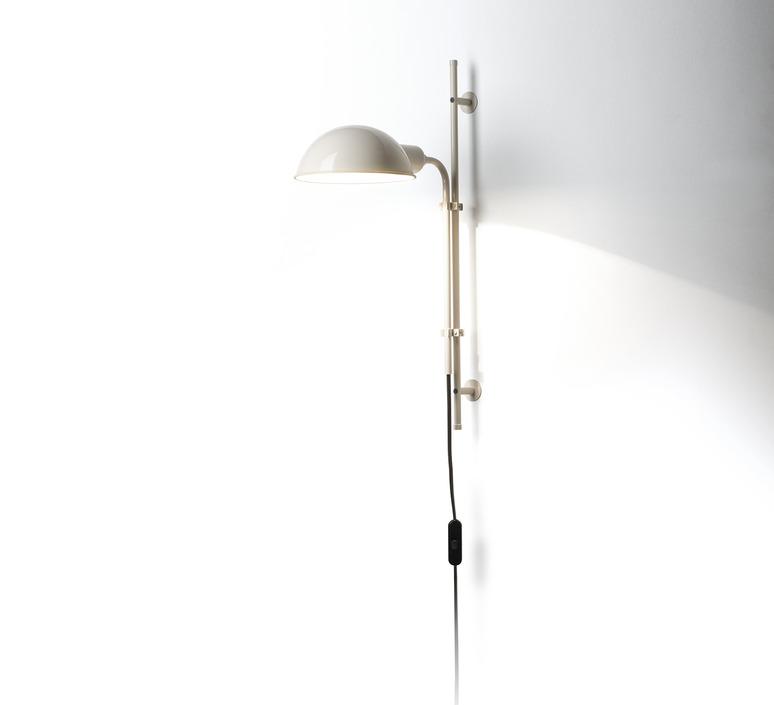 applique murale funiculi blanc cr me h49 2cm marset luminaires nedgis. Black Bedroom Furniture Sets. Home Design Ideas