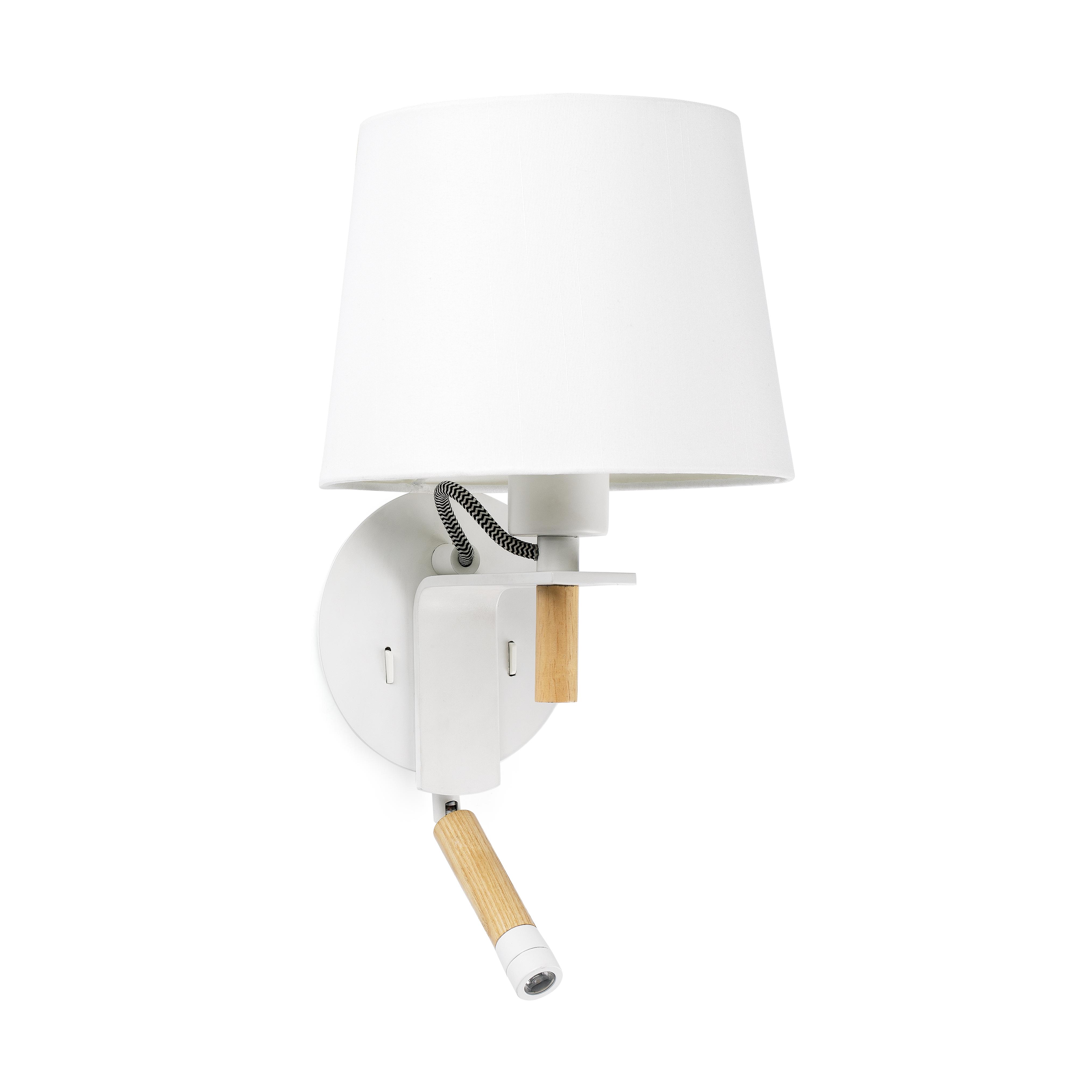 applique murale fusta blanc h40cm faro luminaires nedgis. Black Bedroom Furniture Sets. Home Design Ideas