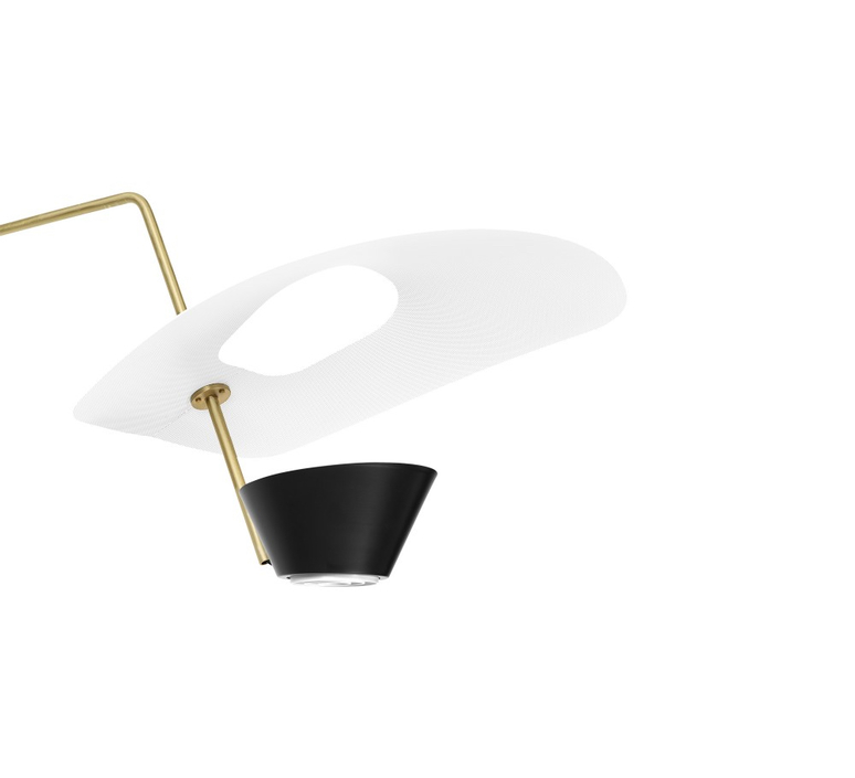 G25 pierre guariche applique murale wall light  sammode g25 white and black  design signed nedgis 64907 product