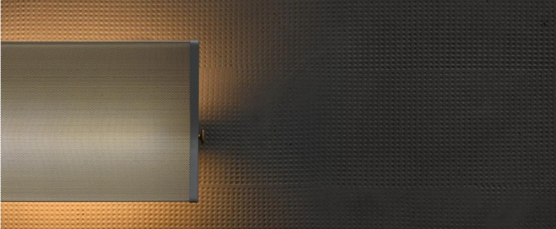 Applique murale g3 gris led 2700 1500 l39 5cm h20cm sammode normal