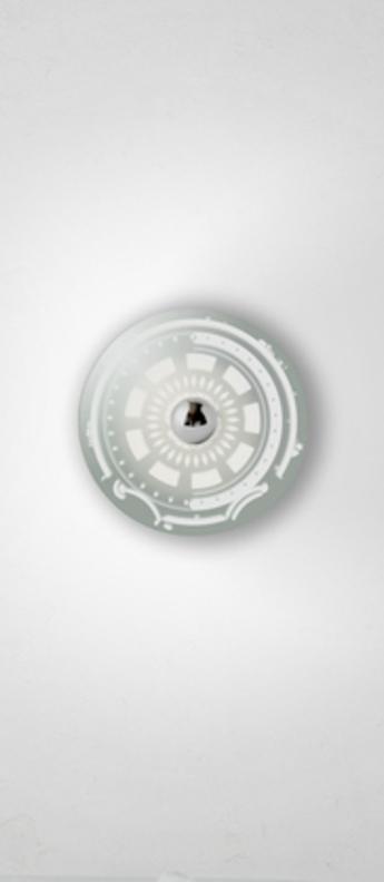 Applique murale gambling l gris blanc o50cm h50cm mineheart normal