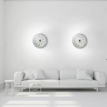 Applique murale gambling s gris blanc o30cm h30cm mineheart normal