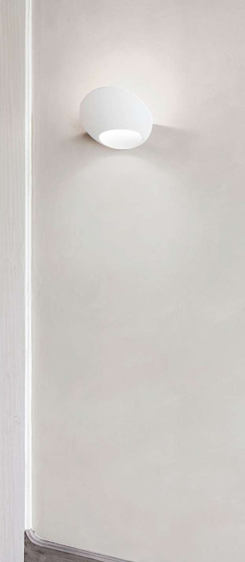 Applique murale garbi blanc l20cm h14cm luceplan normal