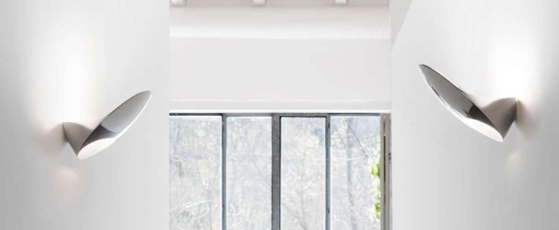 Applique murale garbi blanc metallique l20cm h14cm luceplan normal