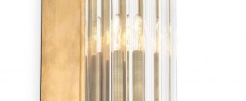 Applique murale gascone xs laiton verre l7cm h26cm eichholtz normal