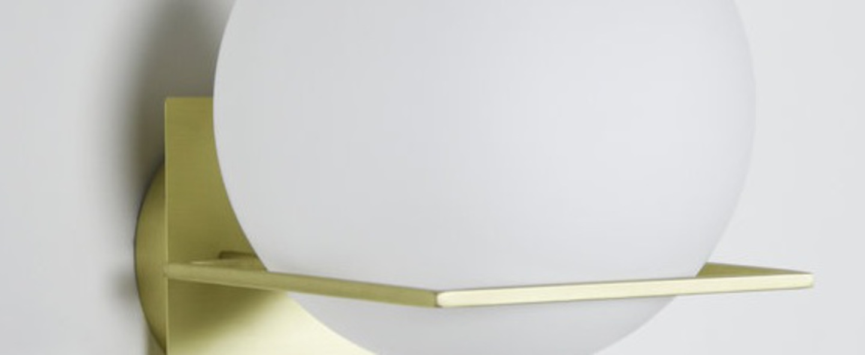 Applique murale gin wall lamp laiton blanc o20cm h25cm eno studio normal