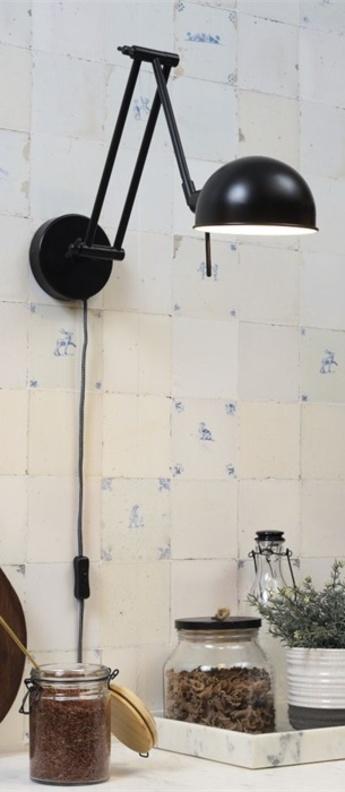 Applique murale glasgow noir l12cm h37cm it s about romi normal