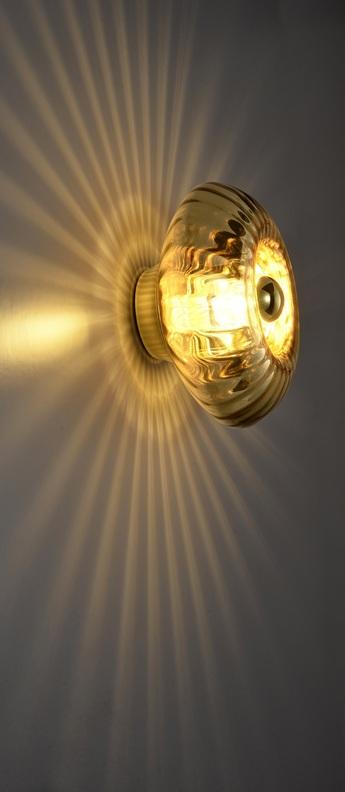 Applique murale grace or o28cm h14cm elements lighting normal