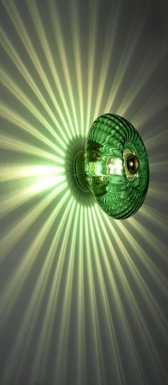 Applique murale grace vert emeraude o28cm h14cm elements lighting normal