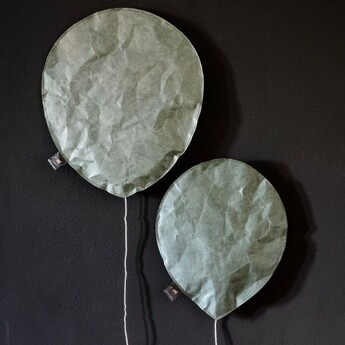 Applique murale green celadon lighting balloon large vert o27cm h31cm ekaterina galera normal