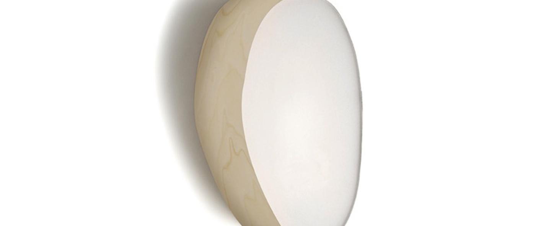 Applique murale guijarros 2a led blanc ivoire h29cm l19cm lzf normal