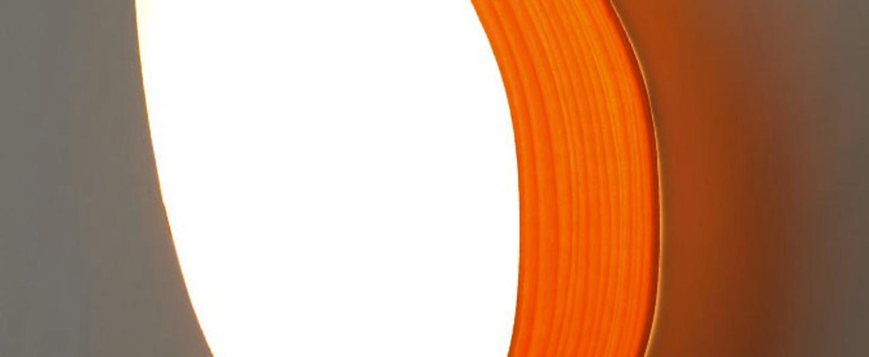 Applique murale guijarros 2a orange led h29cm l19cm lzf normal