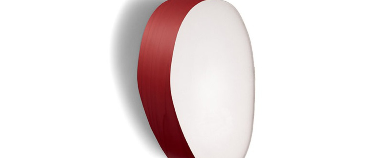 Applique murale guijarros 2a rouge led h29cm l19cm lzf normal