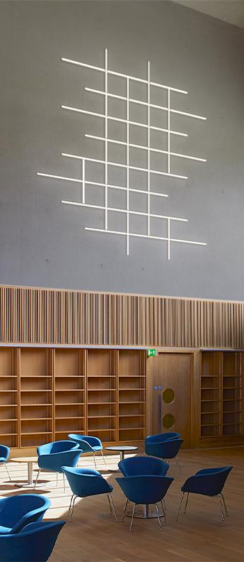 Applique murale halo wall 2361 gris led 3000k 3470lm l211 5cm h102 5cm vibia normal
