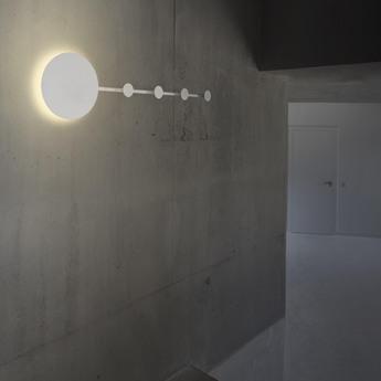 Applique murale han portemanteau blanc led l101cm h25cm faro normal