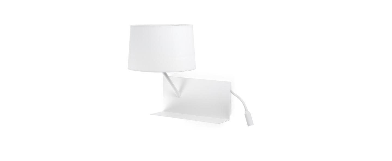 Applique murale handy blanc liseuse gauche h55cm faro normal