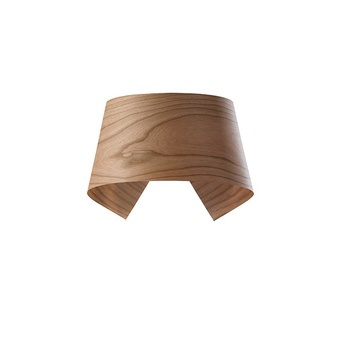 Applique murale hi collar a bois de cerisier naturel led h16cm l26cm lzf normal