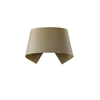 Applique murale hi collar a hetre naturel led h16cm l26cm lzf normal