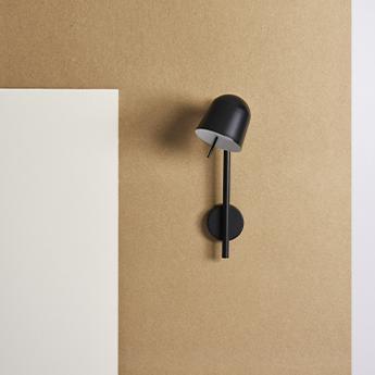 Applique murale ho wall noir l13cm h45cm eno studio normal