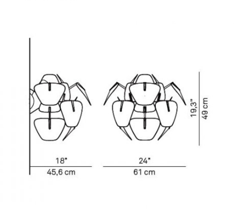 Hope francisco gomez paz applique murale wall light  luceplan 1d6608a00000  design signed nedgis 78465 product