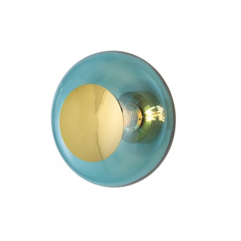 Applique murale horizon ceiling wall lamp 29 bleu mer o29cm h20 5cm ebb and flow normal