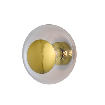 Applique murale horizon ceiling wall lamp 29 transparent or o29cm h20 5cm ebb and flow normal