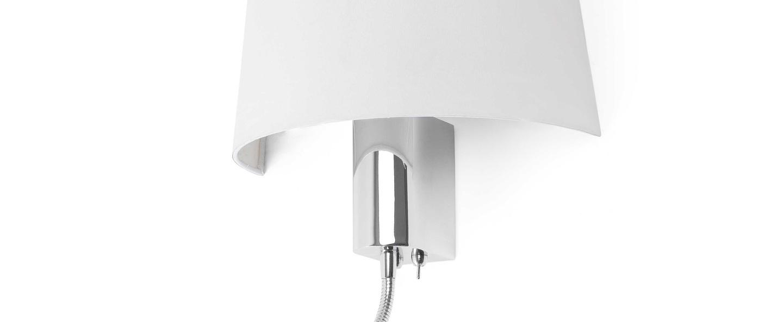 Applique murale h tel blanc h30cm faro luminaires for Applique murale exterieure faro