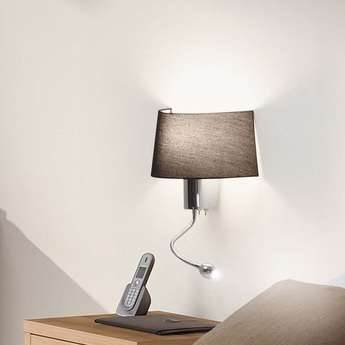applique murale h tel noir h30cm faro luminaires nedgis. Black Bedroom Furniture Sets. Home Design Ideas