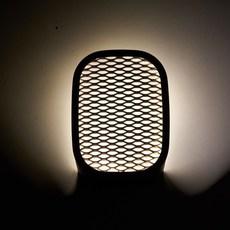 Ideo avec grille filippo mambretti applique murale wall light  zava ideo walllamp metalizedbronze withgrid  design signed 36503 thumb