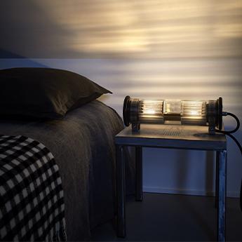 Applique murale in the tube 100 350 reflecteur argente et mailles dorees ip64 o12 5cm h30cm dcw editions paris normal