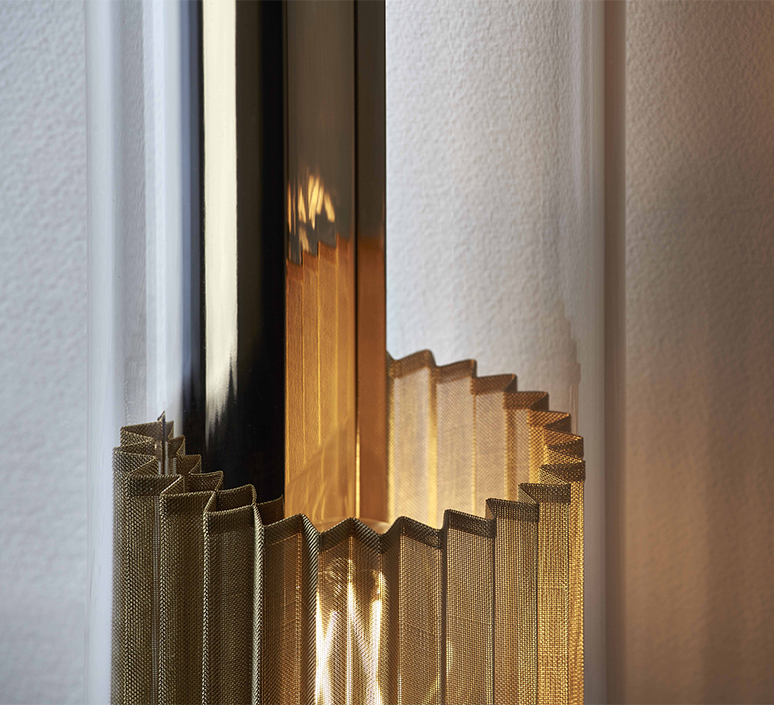 In the tube 120 700 dominique perrault applique murale wall light  dcw itt 120 700 gold gold  design signed nedgis 115272 product