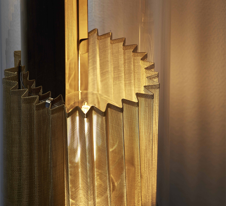 In the tube 120 700 dominique perrault applique murale wall light  dcw itt 120 700 gold gold  design signed nedgis 115277 product