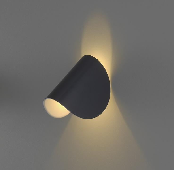 Wall light, IO , grey, H16,5cm - Fontana Arte - Nedgis Lighting